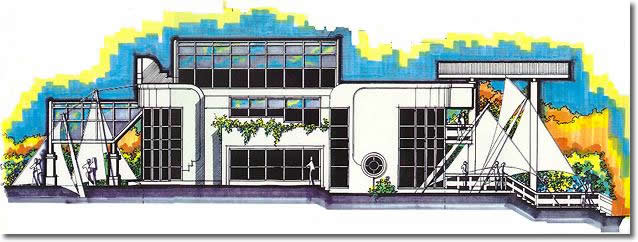 Side elevation of 1995 Design Award winner - Concept category